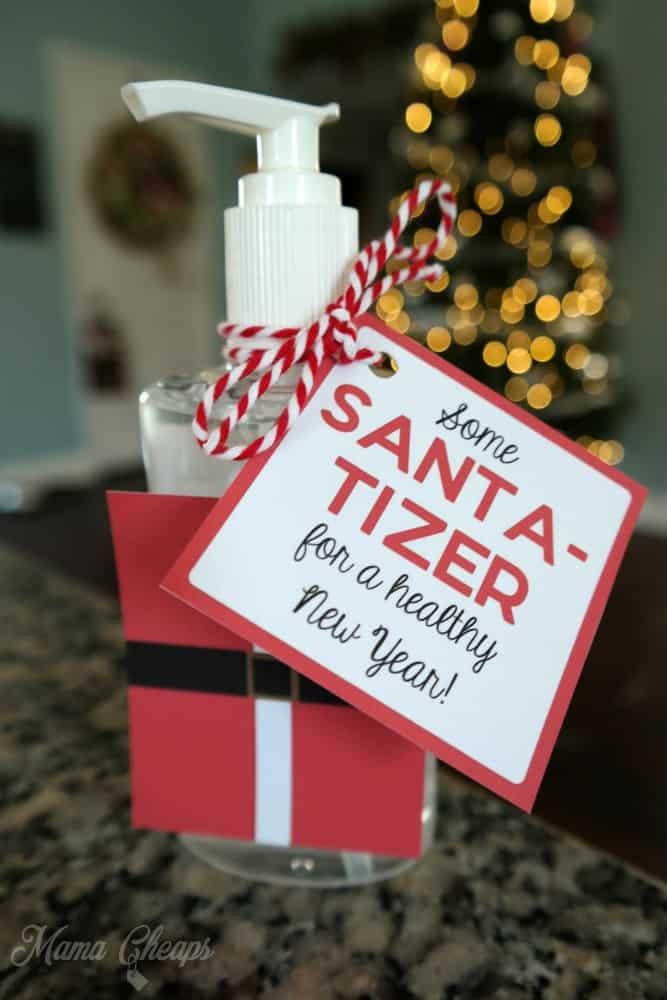 Santa Tizer Hand Sanitizer Easy Christmas Gift Idea Mama