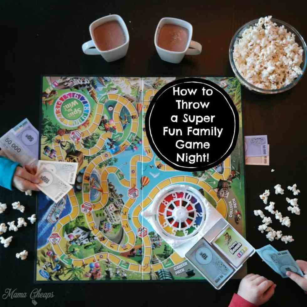 How to Throw a Super Fun Family Game Night!