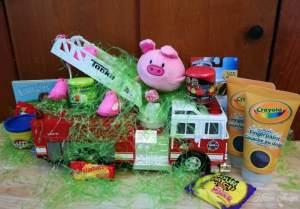 Fire Truck Easter Basket