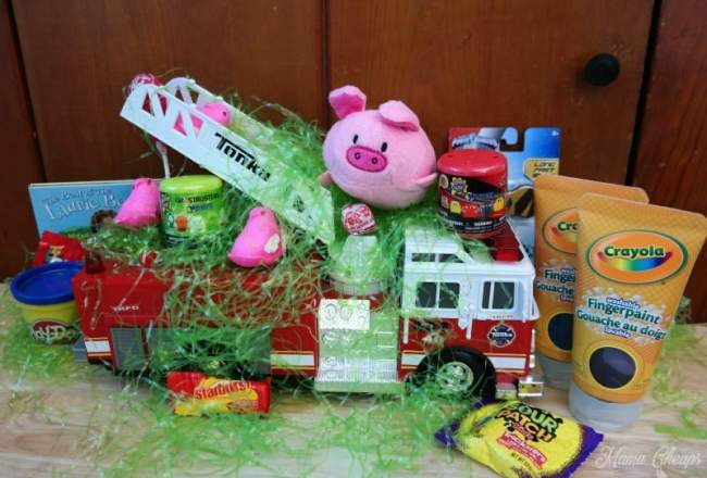Fire Truck Easter Basket