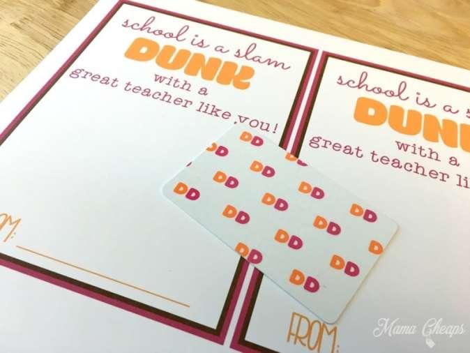 Dunkin Gift Card Present