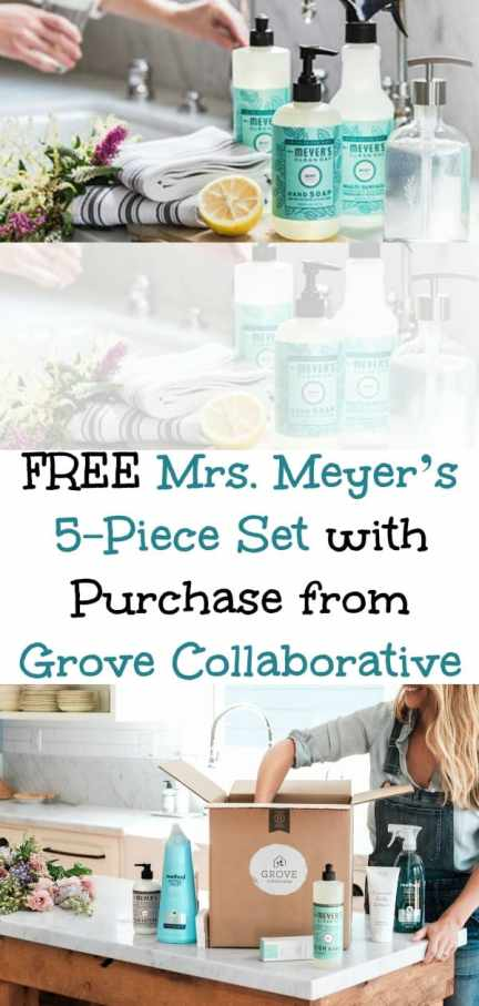 FREE Mrs. Meyer's 5-Piece Set with Purchase from Grove Collaborative