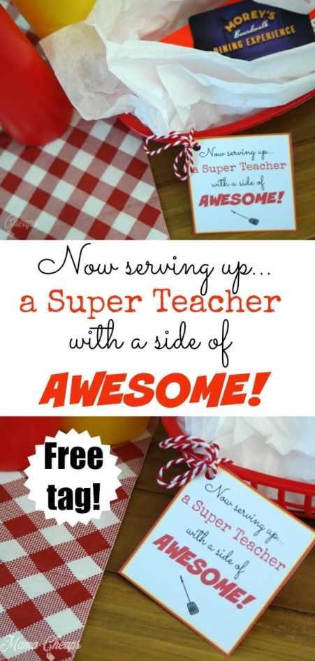Now Serving Up Teacher Gift Idea