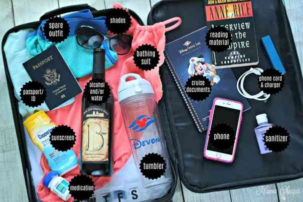 Cruise Carry On Bag Essential Items