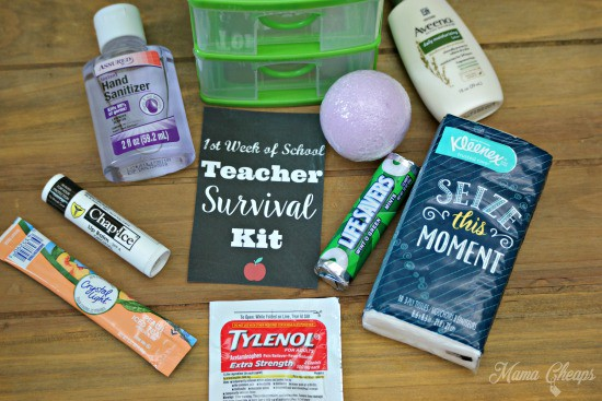 Teacher Survival Kit Supplies