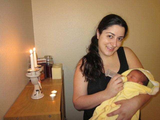 Sarah's 1st Shabbat Candles