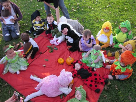 Celebrating Halloween with our mommy group