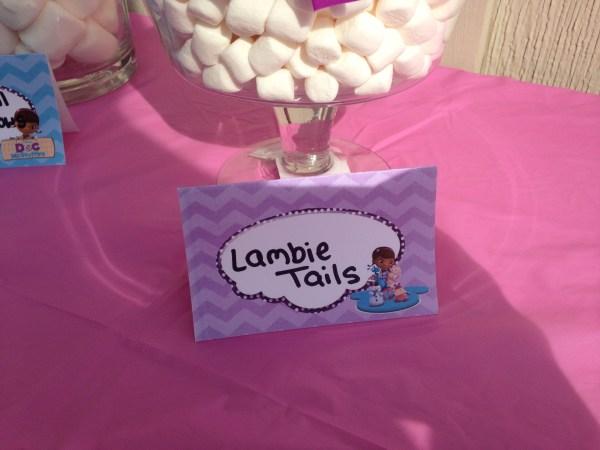 Doc McStuffins Party: Lambie Tails