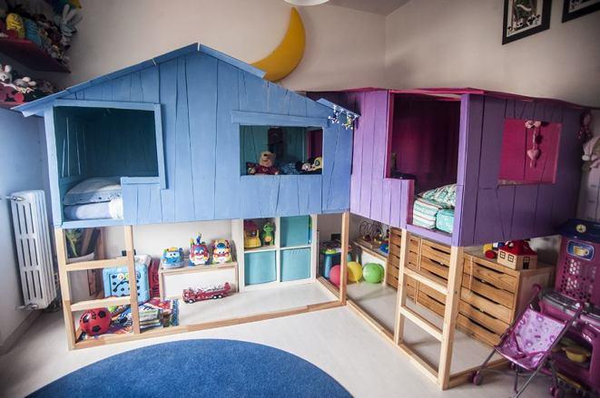 casinha no quarto menino e menina