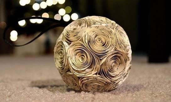 bola de papel enrolado caracol