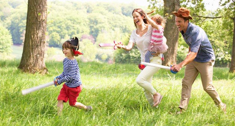 dia das crianças em família