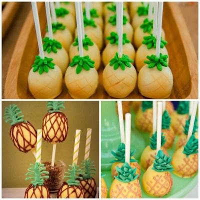 cakepops de abacaxi