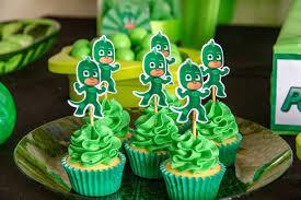 PJ Mask Aniversario cupcake