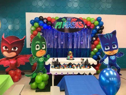 PJ Mask Aniversario decoração ambiente