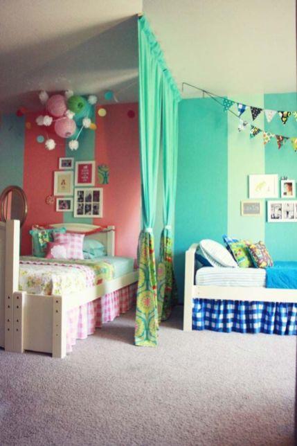 simplicidade e delicadeza no quarto dividido entre menino e menina