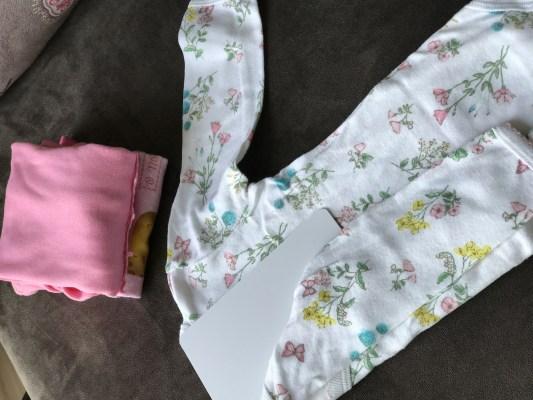 organização baby - gabarito para dobras de roupas