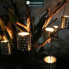 Decoração com luminárias para festa junina