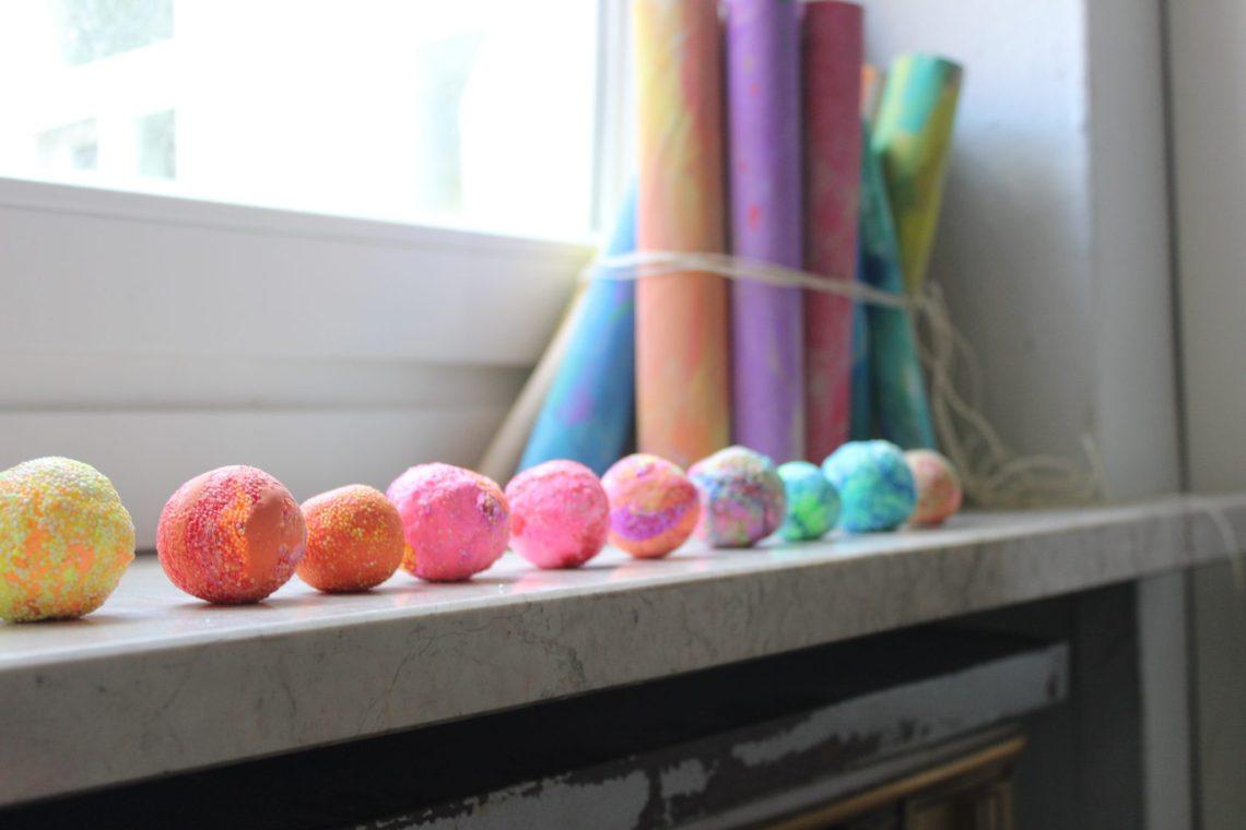bolias pelotas galacticas foam clay silk clay jaspeado mama extraterrestre diy