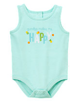 Grandpa Makes me Happy onesie from Gymboree Newborn Collection