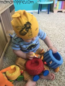 American Adorn stocks ethically made children's clothing from newborn to children's 6X all made in the United States! Including this awesome honeybee knotty hat by wugabug.