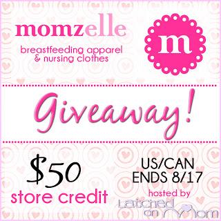 In celebration of #worldbreastfeedingweek win a $50 store credit to momzelle!