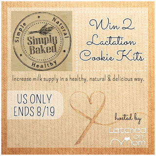 In celebration of #WorldBreastfeedingWeek, SImply Baked is giving away 2 lactation cookie kits! Enter to win today! Ends 8/19.