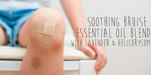 Soothe bruises naturally and gently with this mix of lavender, helichrysum and frankincense.