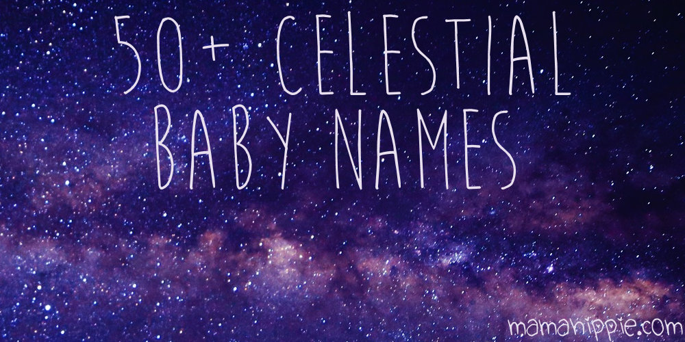 Looking for a beautiful unique name worthy of your new bundle of joy? 50+ celestial baby names inspired by space, astronomy and astrology.