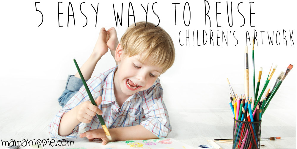Children love to create artwork, whether drawing, painting, or coloring. Parents can't keep every drawing, but throwing them away seems like such a waste. Here are 5 Easy ways to reuse children's drawings and keep them out of a landfill.