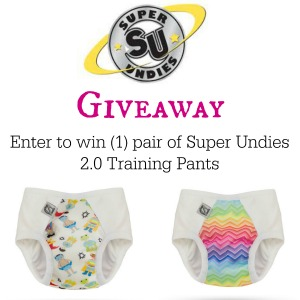 Enter to win 1 pair of super undies cloth training pants!   Hosted by MamatheFox.