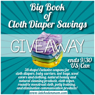 Big Book of Cloth Diaper Savings Giveaway – 9/15-9/30