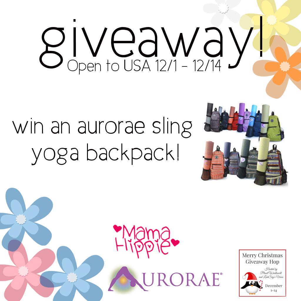 Win an Aurorae Sling Yoga Backpack (12/1-12/14/16; USA)