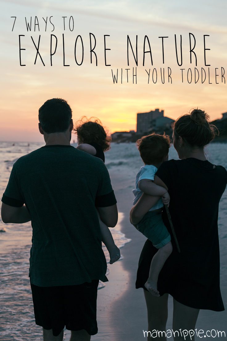 Exploring nature with a baby or toddler in tow is a great learning and sensory experience for them, and a great way to relax for the parents. Here are 7 ways to explore nature with your toddler or baby.