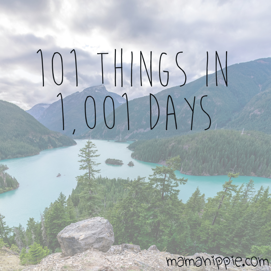 The 101 Things in 1001 Days Challenge