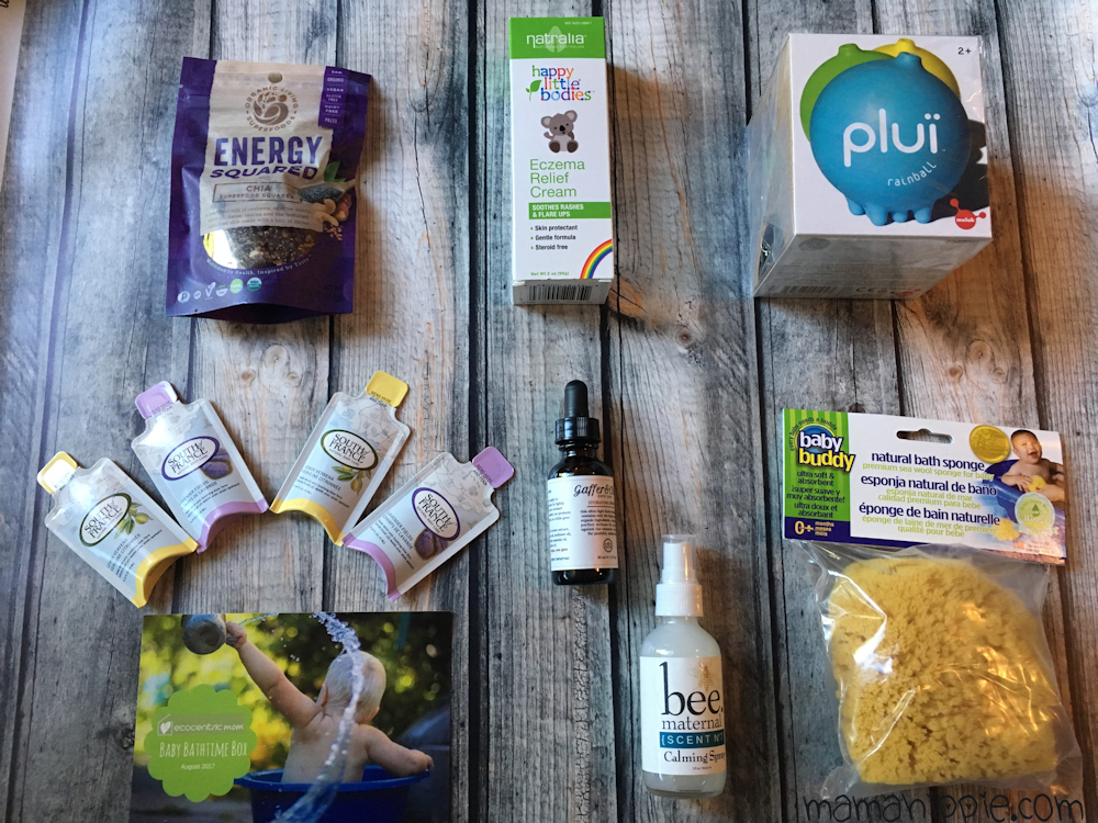 I'm so exciting to bring you another Ecocentric Mom Box review. Ecocentric Mom is a subscription box filled with natural and eco friendly goodies for both mom and baby! Choose between a Mommy & Me subscription box (babies or toddlers), Pregnancy box, or the mom only box. They are a fun way to pamper yourself or a loved one while trying new products. This month's theme was Baby Bathtime, and it's full of fun and practical items to make bathtime a breeze!