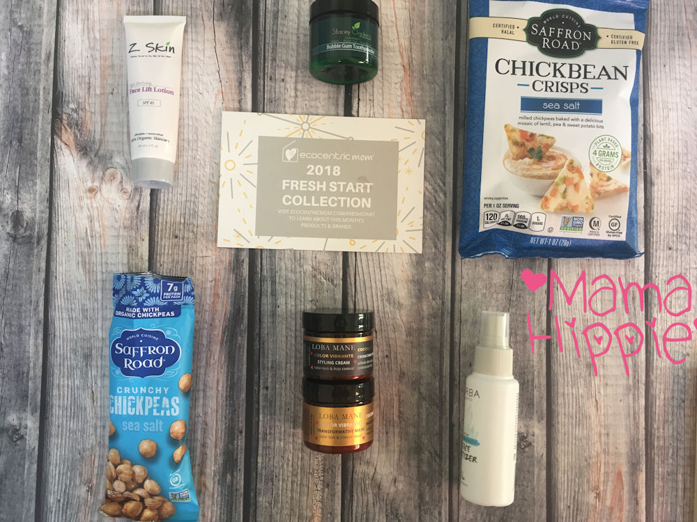 Get new, natural and fun mom and baby products delivered to your door every month with Ecocentric Mom subscription boxes! Each month is full of natural and organic goodies! See what's inside the Fresh Start collection and order one for yourself and a loved one!  #subscriptionbox #ecofriendly #mom