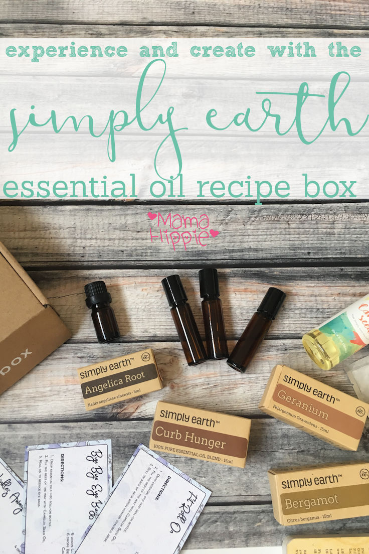 Simply Earth seeks to solve that problem with their monthly essential oil recipe box. Each month (or quarter), their Essential Oil recipe box is shipped right to your door so you can experience new oils and recipes. Each box contains 4 full size oils plus some crafting goodies and extra bottles. The oils are excellent quality and affordable. See the full box.