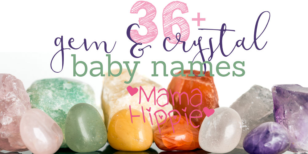 Baby name inspiration everywhere! Giving your bundle of joy a crystal baby name is both unique and beautiful! Here is a list of over 30 ideas for gem and crystal baby names.