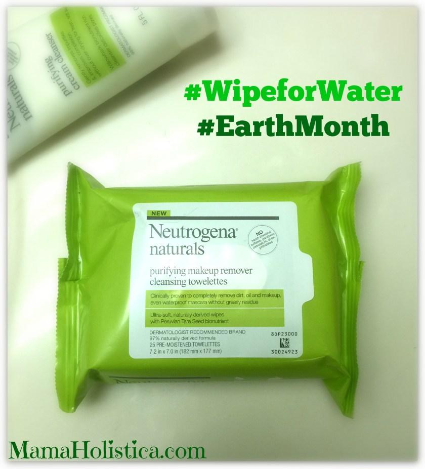 Ahorra #Agua en este Mes de la Tierra con Neutrogena® Naturals. Sorteo. #WipeforWater #EarthMonth - Neutrogena® Naturals Purifying Makeup Remover Cleansing Towelettes.