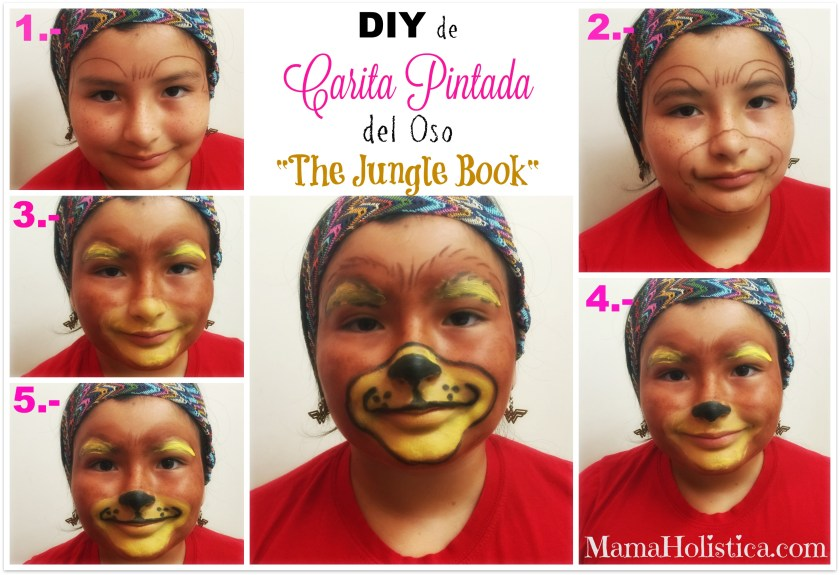 Noche de Película, DIY de Carita Pintada y Sorteo con The Jungle Book Movie #JungleBook