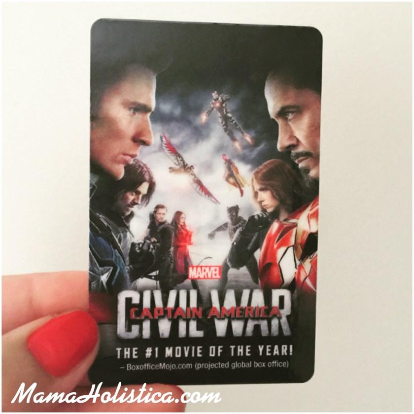 Ganadora del Sorteo de una Tarjeta Digital de la Película Captain America: Civil War de Marvel.