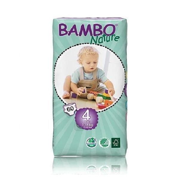 Sauskelnės Bambo Nature Duo Maxi 4, 7-18kg, 60vnt.