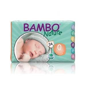 Sauskelnės Bambo Nature Premature 0, 1-3kg, 24vnt.