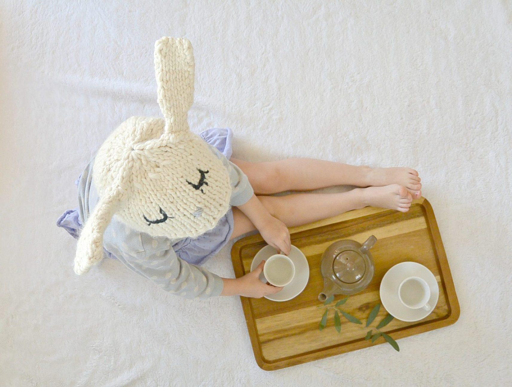 Knit bunny hat 6