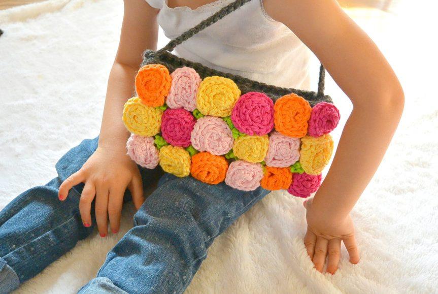 Easy Rose Crochet Purse