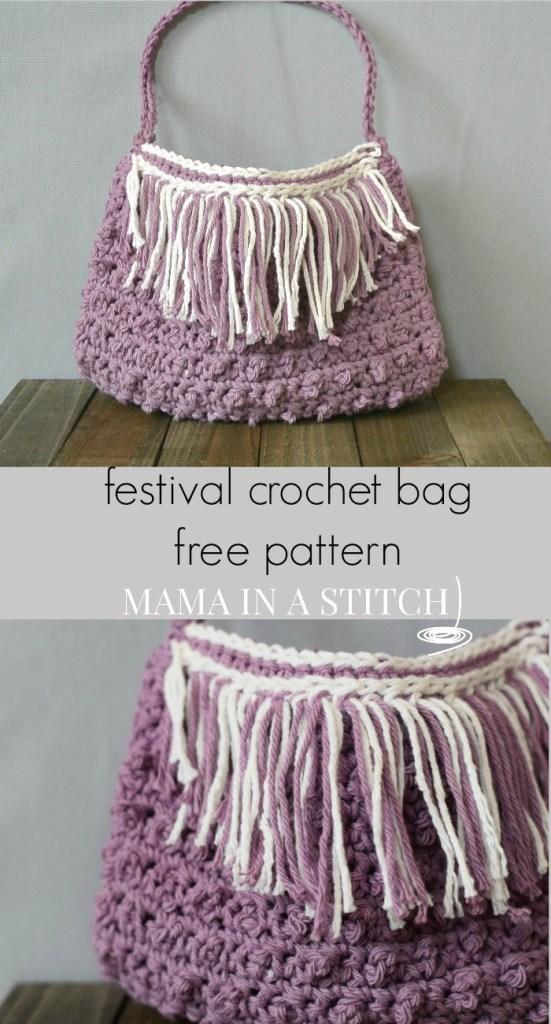 Fringed Bag Free Pattern Crochet