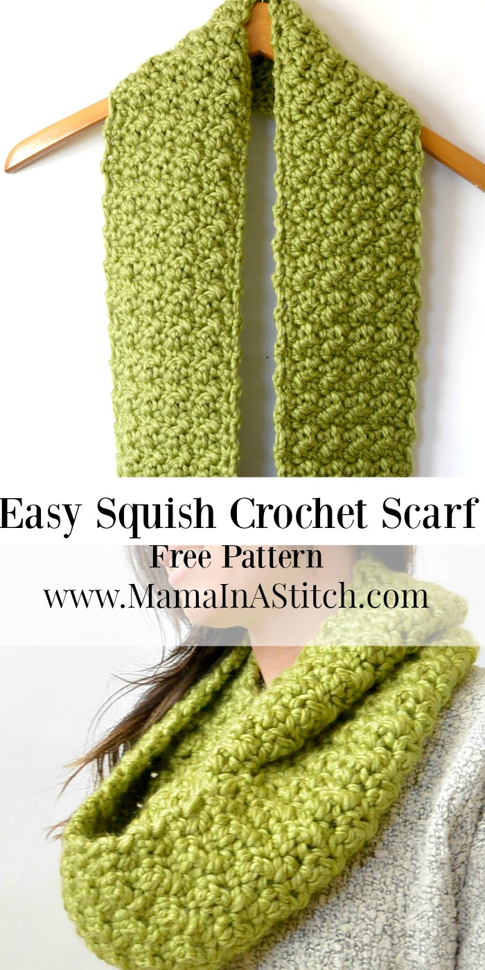Chunky, Squishy Crochet Infinity Scarf Pattern  Mama In A