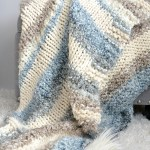 Cuddly Quick Knit Throw Blanket Pattern Mama In A Stitch
