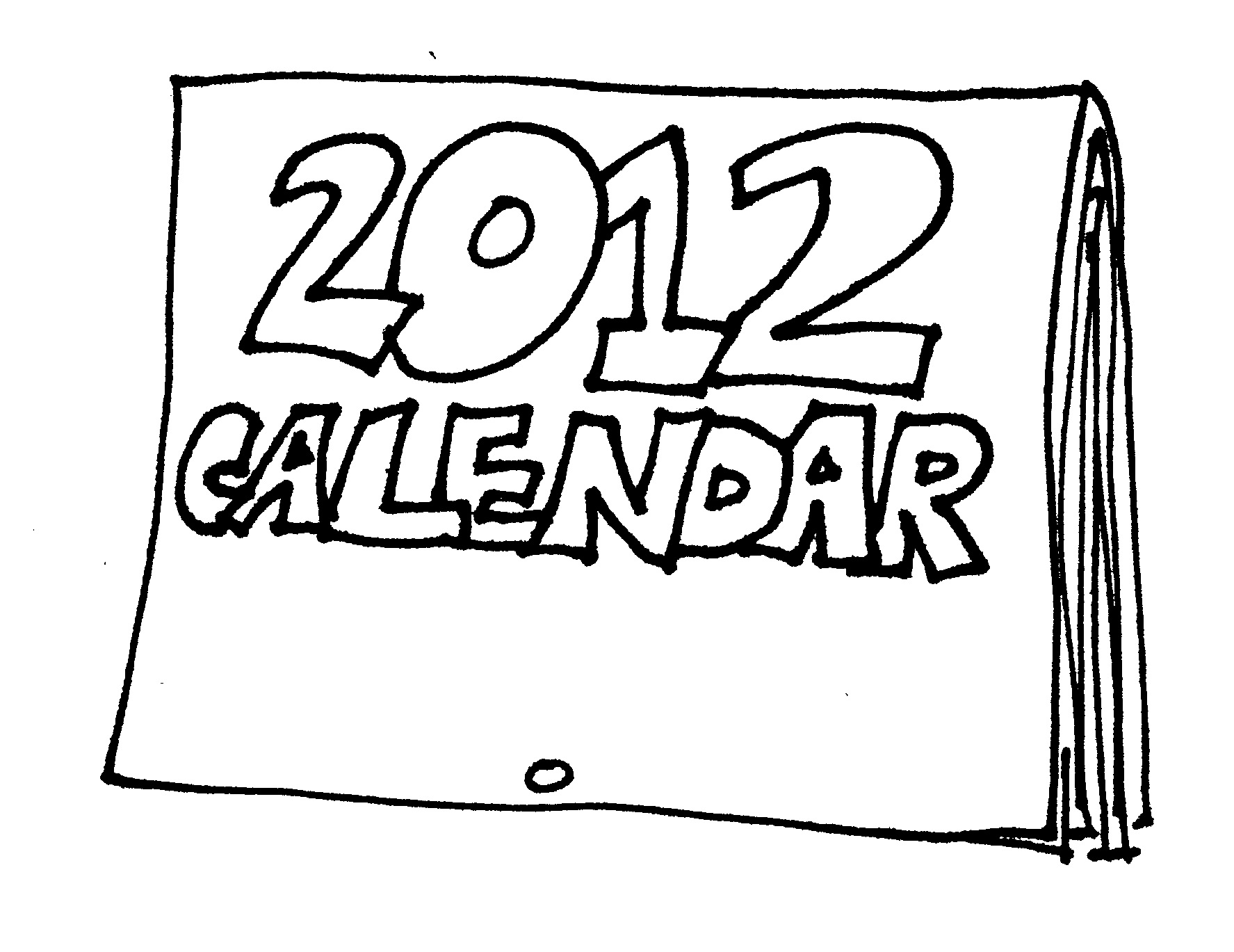 2012 calendar front for shop