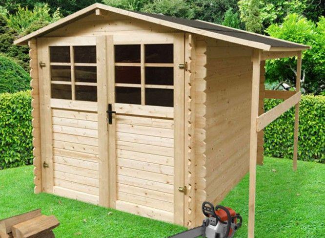 abri de jardin en bois 19 mm bucher pas cher